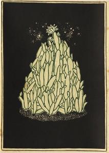 「夜の花」(復刻『月に吠える』カバー画)a